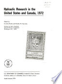 Hydraulic research in the United States and Canada  1972