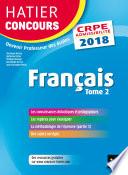 Hatier Concours CRPE 2018   Fran  ais tome 2   Epreuve   crite d admissibilit