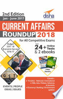 Current Affairs Roundup 2018 with 24  Online Tests   2 ebooks 2nd Edition