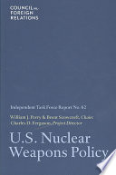 U S  Nuclear Weapons Policy