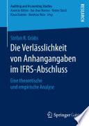 Die Verl  sslichkeit von Anhangangaben im IFRS Abschluss