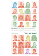 Critical Mass - the Impact and Future of Female Representation in the National Assembly for Wales