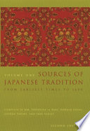 Sources of Japanese Tradition  From earliest times through the sixteenth century