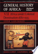 Africa Under Colonial Domination, 1880-1935 Occupation From The Beginnings Of The European