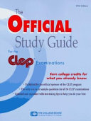 The Official Study Guide for the Clep Examinations 1996