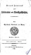 Neues Journal zur Litteratur und Kunstgeschichte