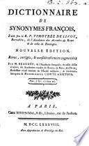 Dictionnaire de synonymes françois