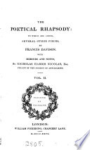Davison's Poetical Rhapsody. With A Preface By E. Brydges. To Which Are Added Several Other Pieces, With Memoirs And Notes By N.H. Nicolas : ...