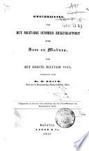 Omschrijving van het militaire summierziekenrapport over Java en Madura, van het eerste half-jaar 1864 [en] het eerste halfjaar 1847