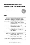 Northwestern journal of international law & business
