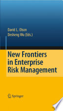 New Frontiers In Enterprise Risk Management book