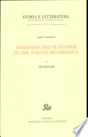 Humanism and Platonism in the Italian Renaissance