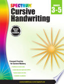 Spectrum Cursive Handwriting  Grades 3   5