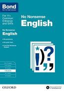 Bond 11+: 7-8 Years: No Nonsense English