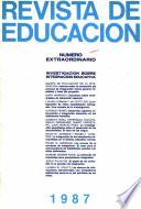 Revista de educación nº extraordinario año 1987. Investigación sobre integración educativa