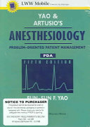 Yao and Artusio s Anesthesiology for Pda