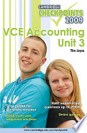 Cambridge Checkpoints VCE Accounting Unit 3 2009