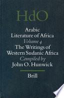 Arabic Literature of Africa  Volume 4