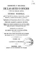 download ebook geometría y mecánica de las artes y oficios y de las bellas artes pdf epub