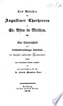 Das Münster der Augustiner Chorherren zu St. Afra in Meissen. Eine Säcularschrift, etc