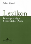 Lexikon fremdsprachiger Schriftsteller-Ärzte