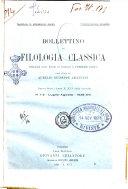 Bollettino di filologia classica