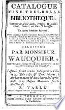 Veilingcatalogus, boeken Wancquier, 20 juni e.v. 1763