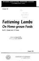 Fattening Lambs On Home Grown Feeds