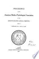 Proceedings of the American Medico Psychological Association Book PDF