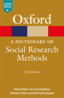 A Dictionary of Social Research Methods