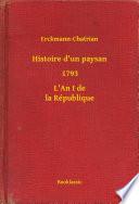 Histoire d un paysan   1793   L An I de la R  publique