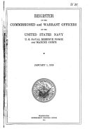 Register of the commissioned and warrant officers of the United States navy and Maine corps