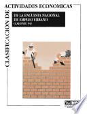 Clasificaci  n de actividades econ  micas de la Encuesta Nacional de Empleo Urbano  CAE ENEU 94