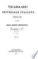 Vocabolario universale italiano compilato a cura della societ   Tipografica Tramater e Ci