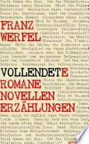 Vollendete Romane Novellen Erz  hlungen