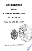 Kalendario manual y guía de forasteros en Madrid
