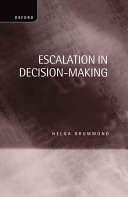 Escalation In Decision Making