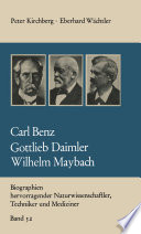 Carl Benz Gottlieb Daimler Wilhelm Maybach