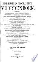 Historisch en geographisch woordenboek ...