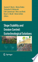 Slope Stability and Erosion Control  Ecotechnological Solutions