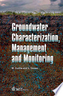 Groundwater Characterization Management And Monitoring book