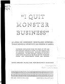 I Quit Monster Business