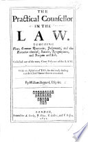 The Practical Counsellor in the Law Touching Fines  Common Recoveries  Etc  B L