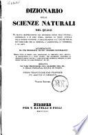 Dizionario Della Scienze Naturali