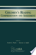 Children S Reading Comprehension And Assessment