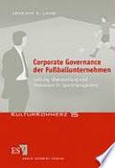 Corporate Governance der Fußballunternehmen