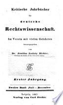 Neue kritische Jahrbücher für deutsche Rechtswissenschaft