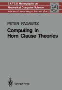download ebook computing in horn clause theories pdf epub