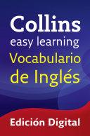 download ebook easy learning vocabulario de inglés (collins easy learning english) pdf epub