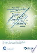 Emergent Phenomena in Correlated Matter